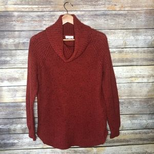 Sun shadow pullover cowl neck grandpa sweater L